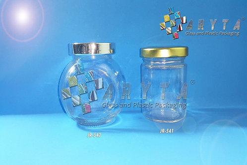 Jar kaca 100ml bulat tutup kaleng emas new