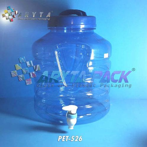 Galon plastik PET 10 liter biru A + keran
