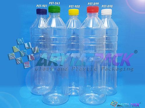 Botol plastik pet 1liter aqua tutup segel kuning