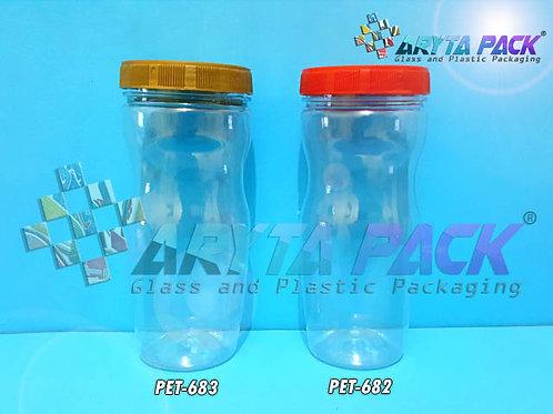 Toples plastik PET 500ml selai body tutup merah