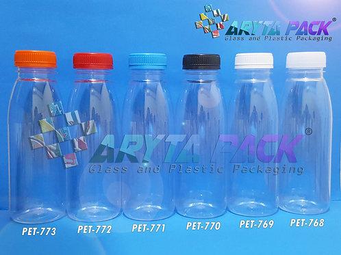 Botol plastik minuman 350ml jus organik tutup merah segel