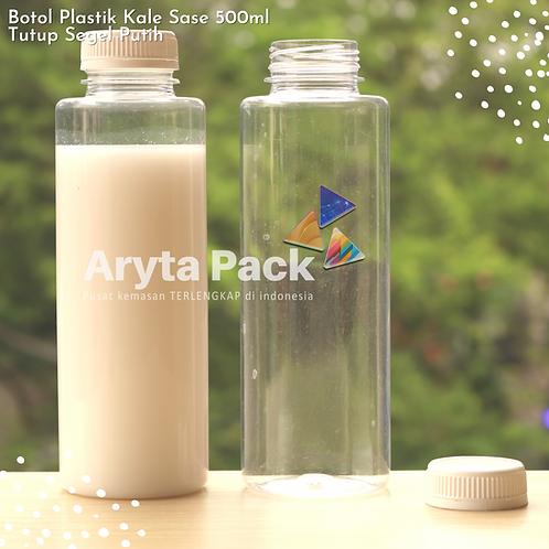 Botol plastik minuman 500ml jus kale sase tutup segel putih