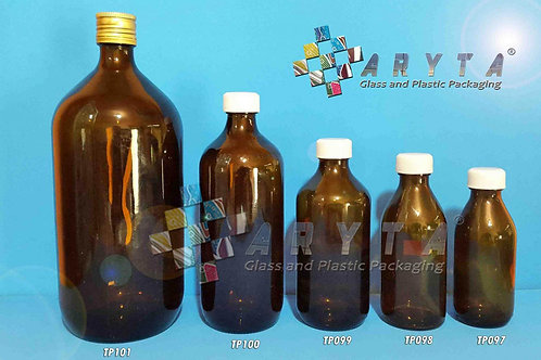 Botol kaca coklat 500ml second tutup plastik