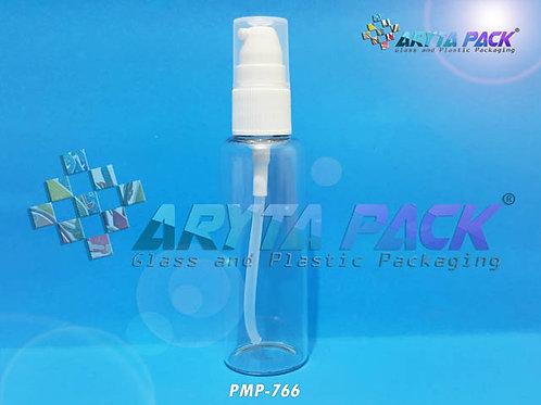 Botol kaca bening 50ml new tutup pump