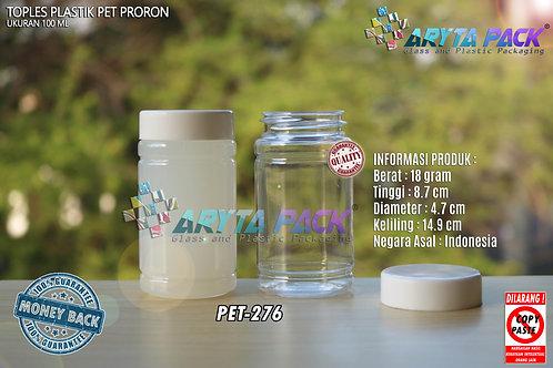 Toples plastik PET 100ml proron natural