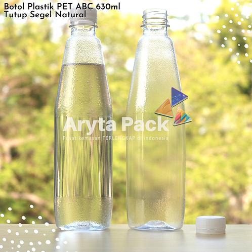 Botol plastik minuman 630ml ABC tutup segel natural
