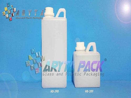 Jerigen plastik HDPE 1 liter kotak natural