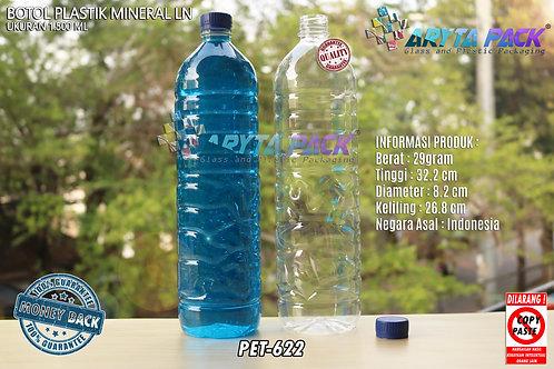 Botol plastik pet 1,5liter aqua tutup segel biru
