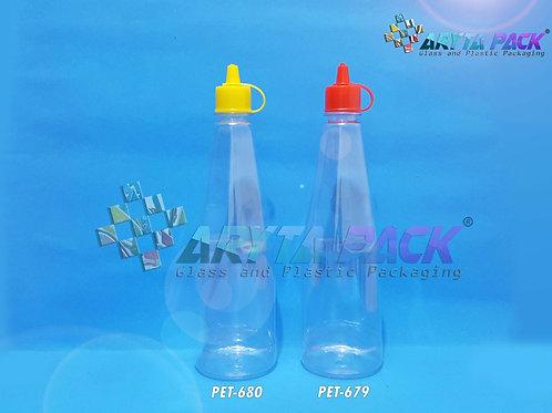 Botol plastik PET kecap 300ml tutup fliptop kuning