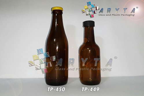 Botol kaca coklat 350ml anker stout new tutup sumbat