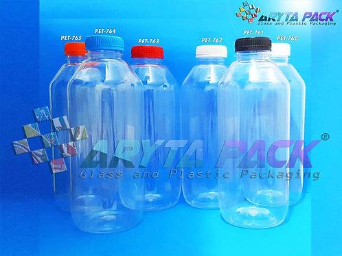 Botol plastik minuman 1liter jus kale tutup biru segel