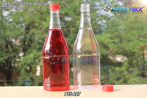 Botol plastik minuman 1 liter angsa tutup segel merah