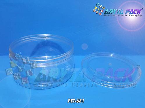 Toples plastik PET kue 1 Liter bulat tutup ulir