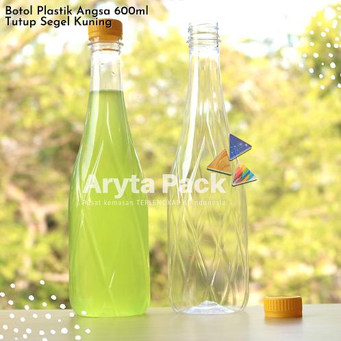 Botol plastik minuman 630ml angsa tutup segel kuning
