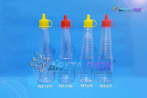 Botol plastik PET kecap gelang 150ml tutup fliptop kuning