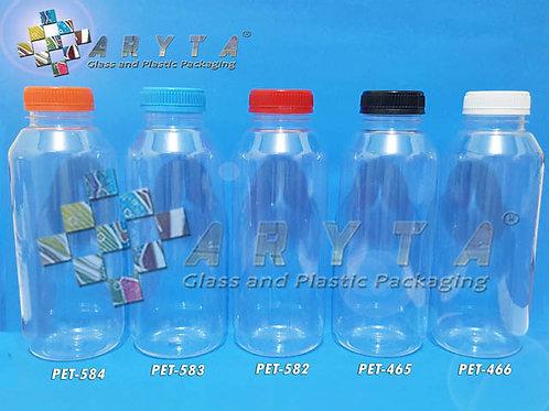Botol plastik minuman 500ml jus kale tutup merah segel