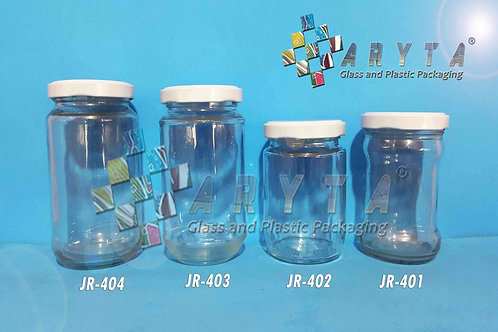Jar kaca 330ml tutup kaleng putih new