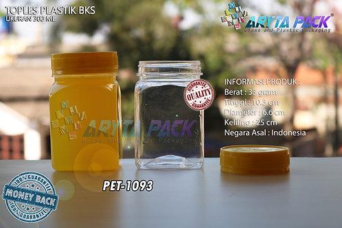 Toples plastik PET 300ml BKS tutup kuning