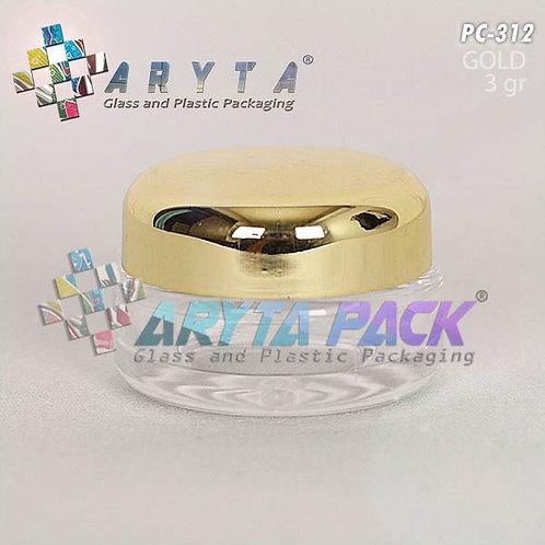 Pot cream 3 gram tutup gold