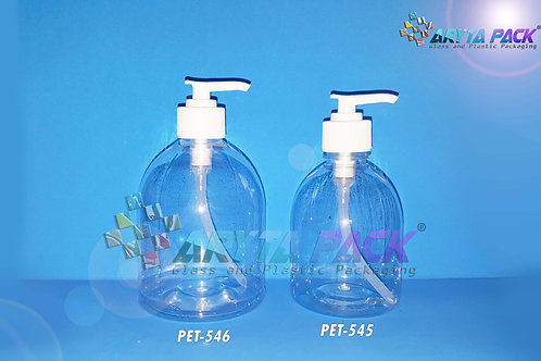 Botol plastik PET 300ml handshoap tutup pump putih susu
