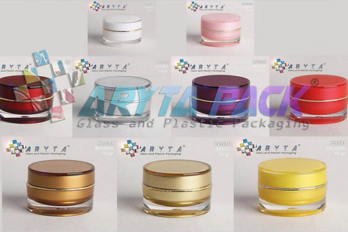 Pot cream acrylic 10 gram ungu