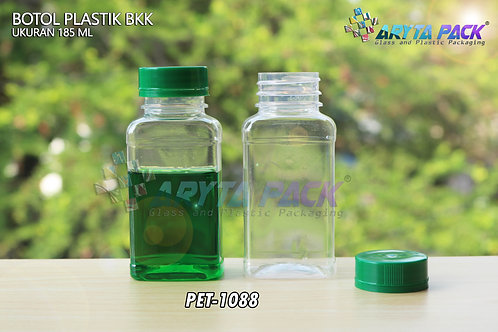 Botol plastik minuman 185ml ajwa/BKK tutup segel hijau
