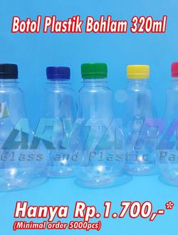 promo botol plastik bohlam 320ml
