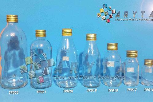 Botol kaca bening 30ml FNG new tutup emas kaleng