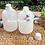 Thumbnail: Botol plastik HDPE 1 liter gold G tutup putih