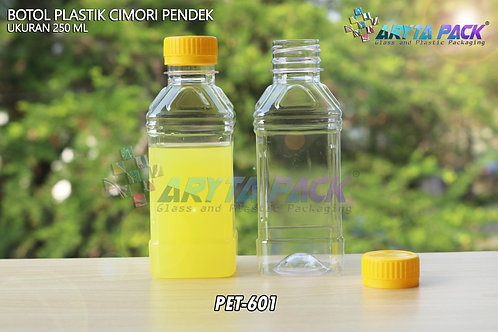 Botol plastik minuman 250ml cimory pendek tutup segel kuning