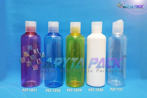 Botol plastik PET Joni 250ml putih susu tutup press on natural