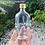 Thumbnail: Botol kaca bening gepeng 250ml second tutup emas kaleng