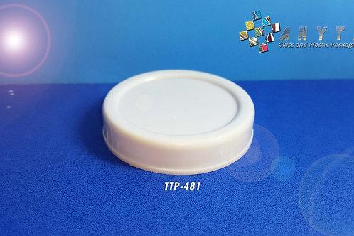 Tutup plastik putih rapat selai ukuran 63mm