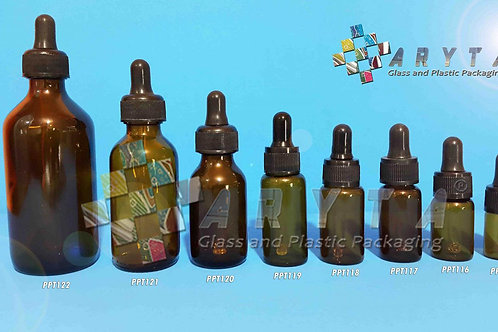 Botol kaca coklat 30ml kosir second tutup pipet hitam