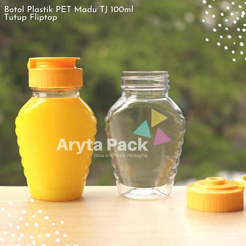 Botol plastik PET 100ml madu TJ tutup fliptop