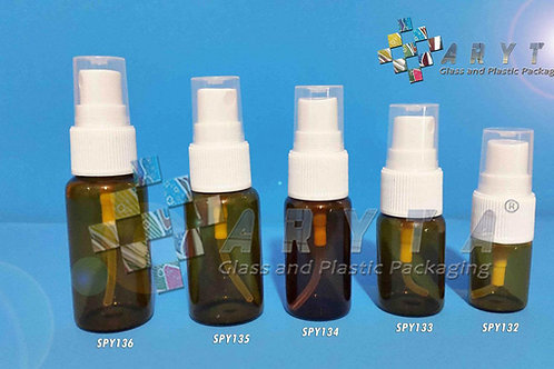 Botol kaca coklat 15ml new tutup spray