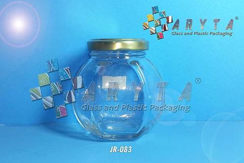 Jar kaca 200ml belimbing tutup kaleng emas new