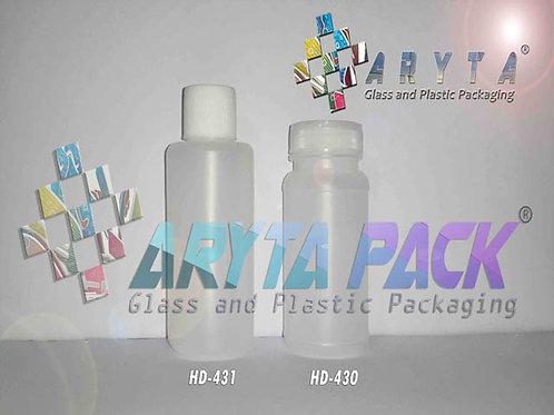 Botol plastik HDPE 100ml NTK tutup ulir