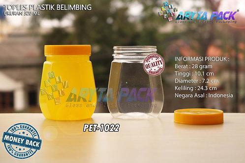 Toples plastik PET 320ml Belimbing tutup kuning