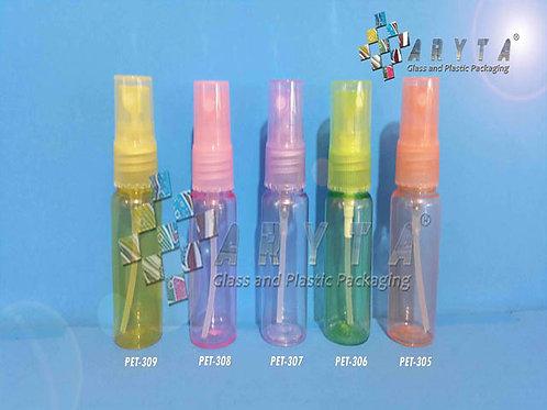 Botol plastik PET 20ml orange tutup spray