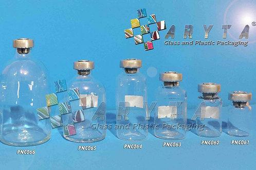 Botol kaca bening 20ml injeksi second tutup aluminium