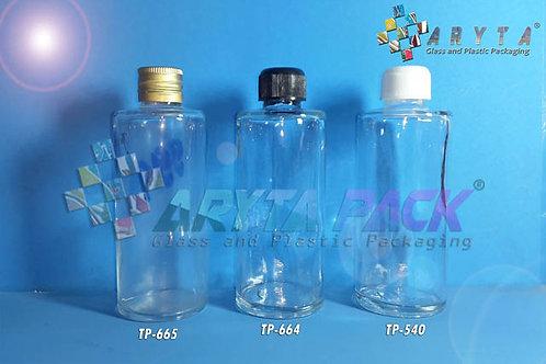 Botol kaca bening 100ml FNG new tutup kaleng emas