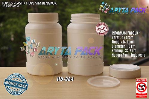 Toples plastik HDPE 1000ml vim bengkok