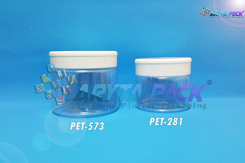 Toples plastik PET Jar SP 250ml tutup putih