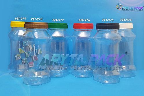 Toples plastik PET 300ml TOP-3 tutup putih