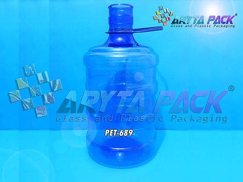 Galon plastik PET 5 liter biru non keran