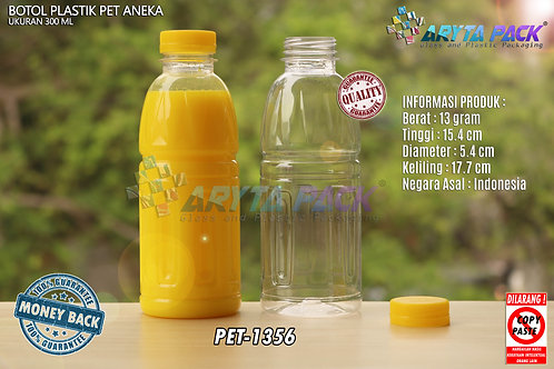 Botol plastik pet 300ml aqua aneka tutup segel kuning