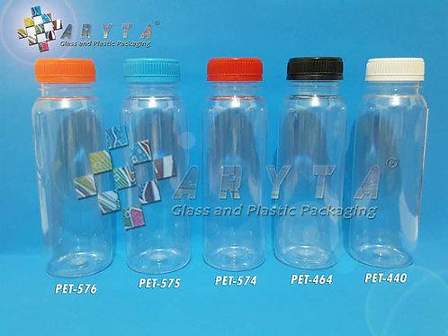 Botol plastik minuman 250ml jus kale tutup merah segel