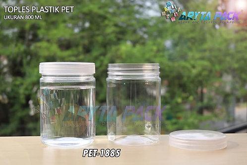 Toples plastik pet 800ml tutup ulir natural