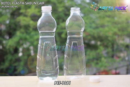 Botol plastik minuman 500ml sabun cair tutup ulir natural